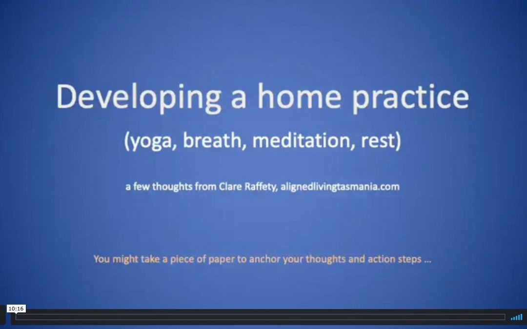 Developing a Home Practice