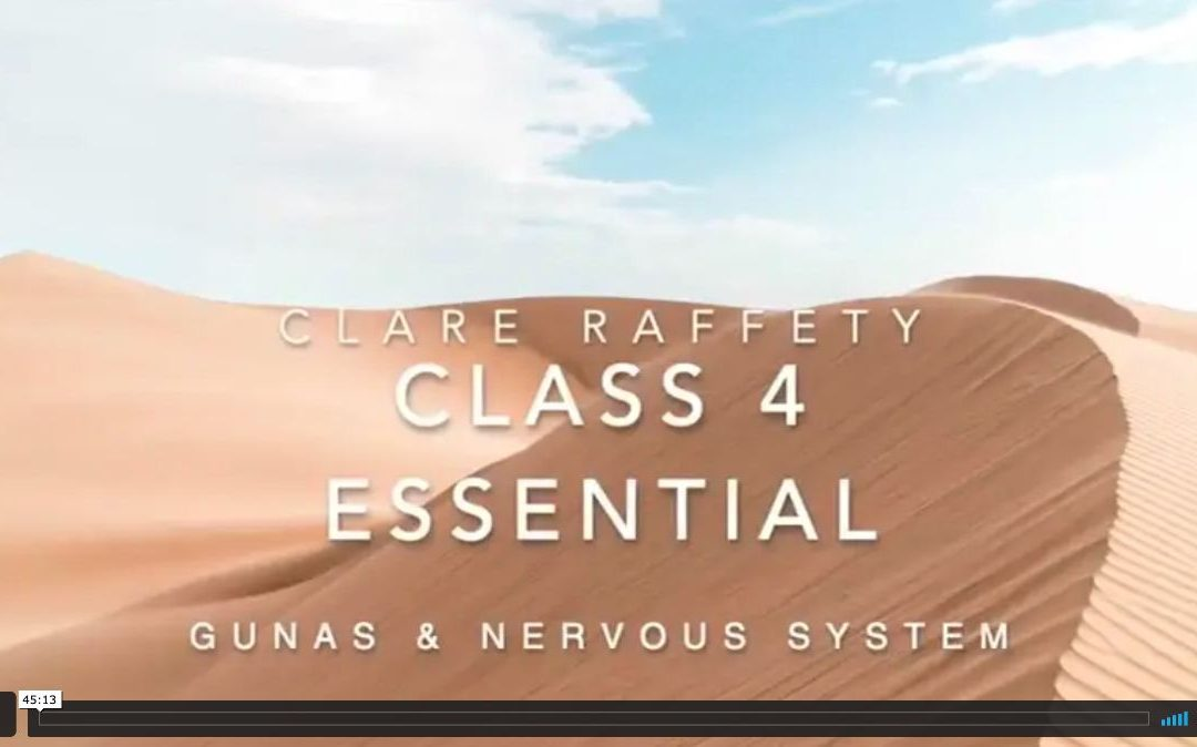 Neuroscience informed practice Essential session 4: Gunas & the nervous system