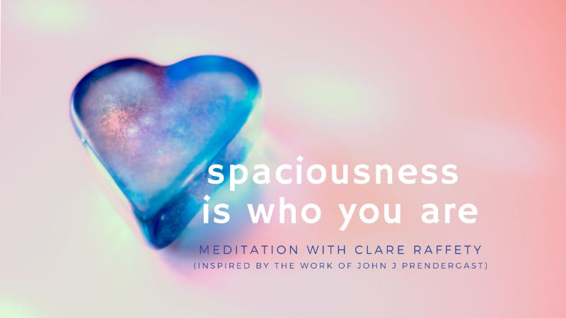 meditation: spaciousness is who you are