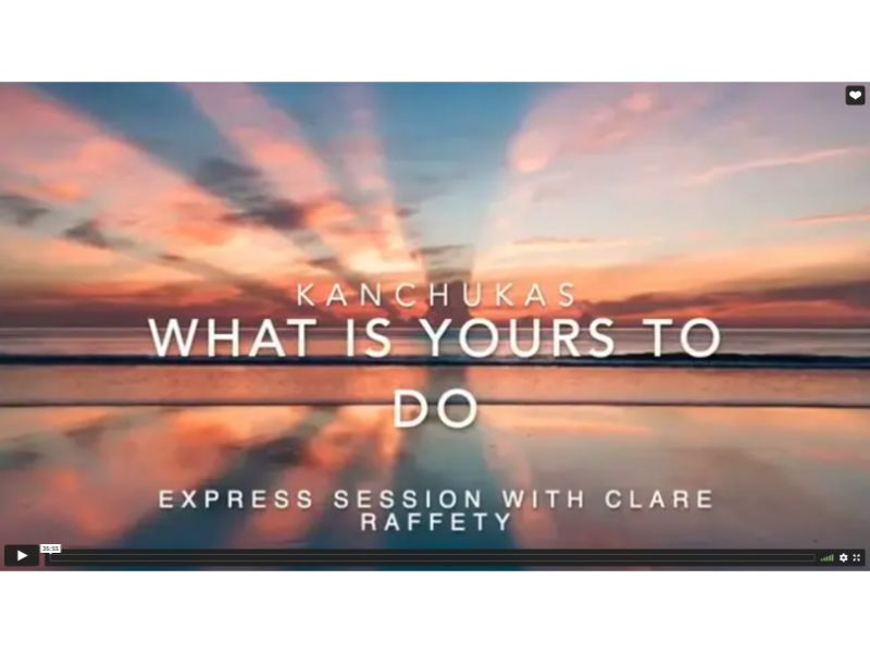 Kanchukas: What is yours to do? Express session