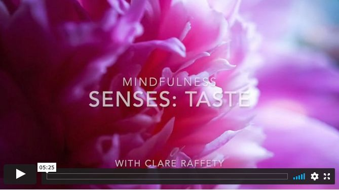 mindfulness: sense of taste