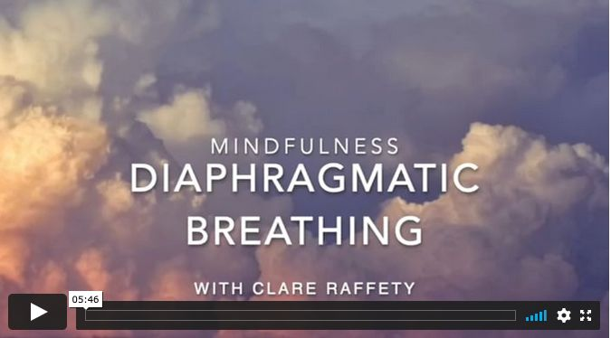 mindfulness: diaphragmatic breathing