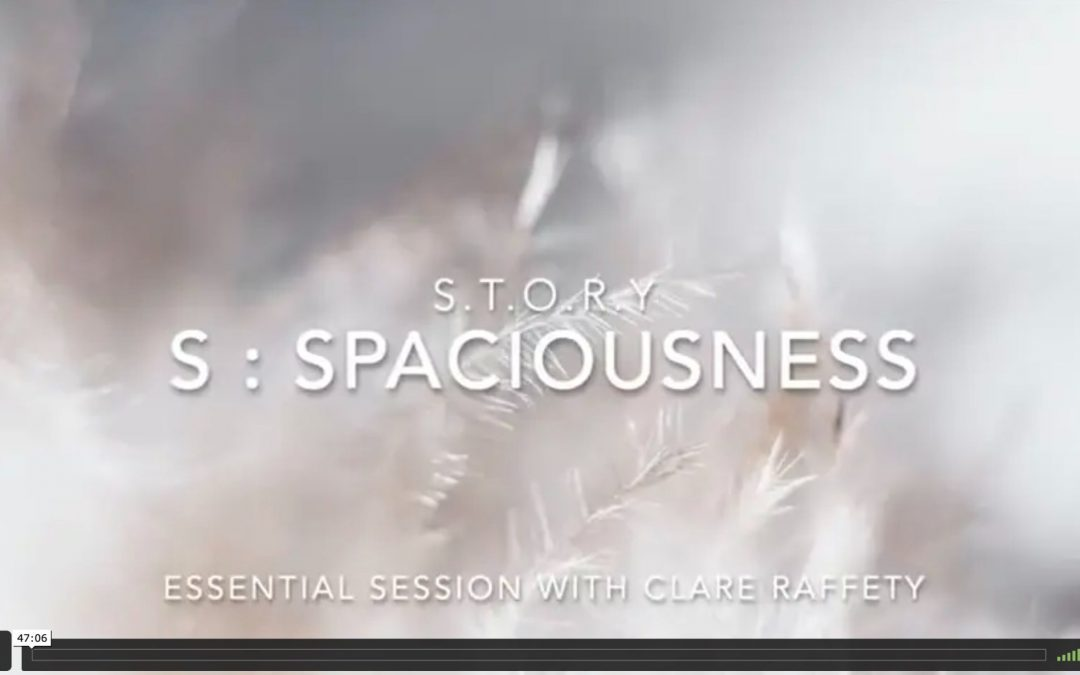 S.T.O.R.Y : S = spaciousness. Expansive session