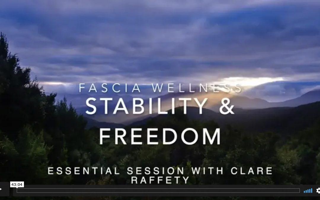 Fascial Wellness: Stability & Freedom. Essential session